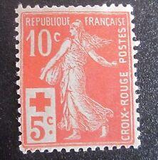 Fr 1914 timbre Neuf  n° 147 Semeuse Camée La croix rouge française côte 52 €