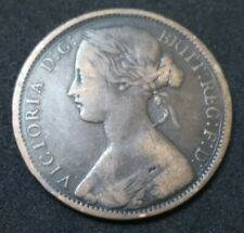 1863 GREAT BRITAIN QUEEN VICTORIA PENNY BRONZE 157 YEARS OLD COIN KM# 749.2