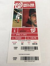 Brad Lidge Last Final Save April 17 2012 4/17/12 Nationals Astros Full Ticket
