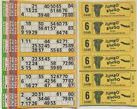 750 6 PAGE GAMES JUMBO BINGO TICKETS 6 TO VIEW JUMBO BINGO BOOKS