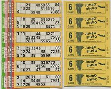 3000 6 PAGE GAMES JUMBO BINGO TICKETS 6 TO VIEW JUMBO BINGO BOOKS