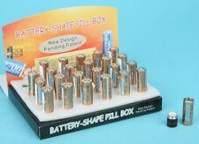 AA Battery Shaped Stash Pill Box Screw Cap Fake Novelty Size Safe Hidden New
