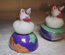 Unicorn rubber Ducky lush rainbow Love Spell Surprise Toy Bath bomb bombs XL