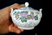 Beautiful Wedgwood Avon Multicolor Lidded Sugar Bowl