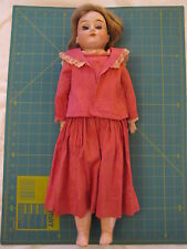 """Antique Bisque Shoulder Plate Doll with Triangle Marking, German ? ~ 20"""" tall"""