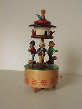 Erzgebirge Volkskunst Steinbach Holz Spieluhr Spieldose spielende Kinder