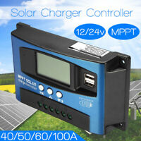 100A MPPT 12/24V Auto Dual USB Solar Panel Controller Battery Charge Regulator==