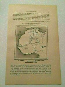 K116) Map of Projected Train Railways Across West Africa 1887 Engraving