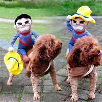 Animal de compagnie chien chat Cowboy Western vêtements Cosplay Fête Costumée