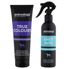Animology True Colours Enhancing Dog Shampoo and Knot Sure de-Tangle Spray Set