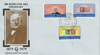 St VINCENT GRENADINES 1979 ROWLAND HILL CENTENARY UNADDRESSED FIRST DAY COVER a