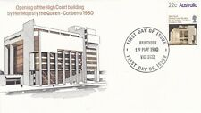 Australia 1980 Opening of High Court Building FDC Hawthorn CDS Unadressed VGC