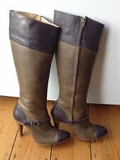 Diesel Knee High Boots 100% Leather Upper Shoes for Women