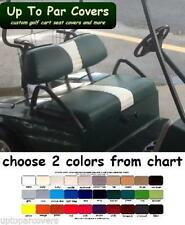 Club Car DS 2000+ Custom Golf Cart Front Seat Cover Set - 1 STRIPE STAPLE ON