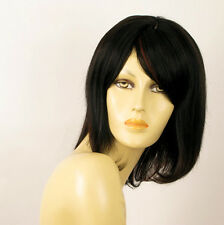 wig for women 100% natural hair black and red wick ref  LISE 1b410 PERUK