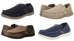 Crocs Men's Santa Cruz Loafer Slip on Home Comfort Shoes Canvas Size 7-15 M US