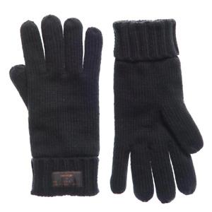 Superdry Mens Stockholm Knitted Gloves Black