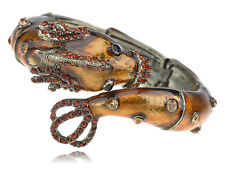 Loch Ness Sea Monster Critter Pond Topaz Crystal Rhinestone Bracelet Bangle Cuff
