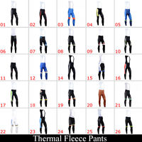 Cycling Bike Bib Tights Long Pants Sports Trousers Winter Thermal Fleece Warm