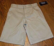 Size 6 French Toast Kids Boys Khaki Flat Front School Uniform Shorts nwt