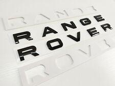2 x GLOSS BLACK RANGE ROVER LETTERS FOR BONNET BOOT EVOQUE SPORT VOGUE
