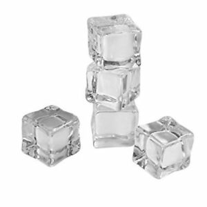 Artificial Ice Cubes - 12 Pieces - Clear Acrylic - Size 1 Inch