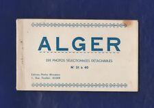Alger Dix photos sélectionnées détachables. Ed.Photos Africaines. Carnet complet