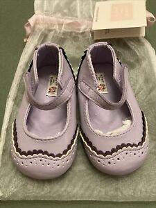 Janie Jack Baby Girl Purple Mary Jane Shoes Crib Bootie NWT  3 Vintage 2013