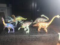 5 Pc Plastic Dinosaur Figures Cake Toppers
