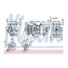 Fits Peugeot 207 1.6 16V VTi Genuine OE Quality Nissens A/C Air Con Compressor