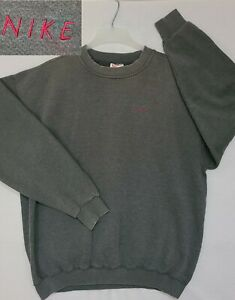 Vtg 90s Nike RARE NOT Swoosh But Spellout Only White Tag Crewneck Size XL (C2)