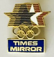 Times Mirror Sponsor USA Olympic Team Pin Badge Vintage Authentic (H10)