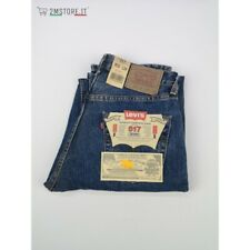 LEVI'S Jeans LEVIS 517 Blu RELAXED FIT Gamba Dritta MADE IN ITALY Vintage 90's