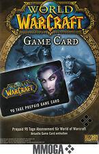 World of Warcraft GameCard 90 Tage - WoW EU Game Card 90 Tage Digital Code - EU
