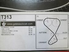 Hyundai Santa Fe Kia Sorento 2.4 16 V GATES cambelt Timing Belt T313