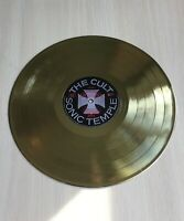 The Cult Sonic Temple 1989 Gold Vinyl Record First Press Label