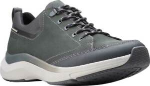 Men's Shoes Clarks WAVE 2.0 VIBE Leather Athletic Sneakers 51636 DARK GREY