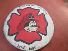 WWII USAAF DISNEY MICKEY SANTA ANA  AAF BASE   FIRE DEPT PATCH
