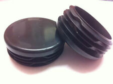 2 x Plastic Black Blanking End Cap Caps Round Tube Pipe Inserts 45mm 1 3/4""