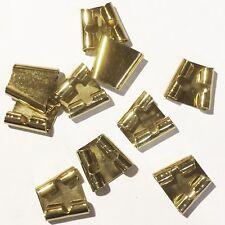 Blank Bolo Tie Standard Slides Pack of 10 Goldtone