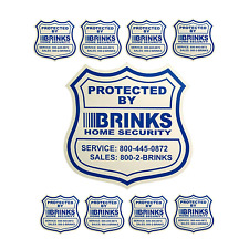 1 HOME SECURITY YARD SIGN and 8 STICKERS / DECALS FOR DOORS WINDOWS ADT BRINKS