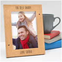 Personalised Birthday Gifts Daddy Dad Grandad - Engraved Photo Frames Presents