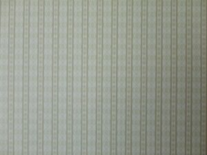 DOLLS HOUSE 1/12 SCALE WALLPAPER - HATTON WOODS - PALACE STRIPE OLIVE - 0122