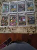 2015 POKEMON FULL ART EX HOLO  8 CARD LOT HYDREIGON GALLAD0 + OTHERS GEM MINT 10