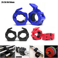 """Olympic 1-2"""" Spinlock Collars Barbell Dumbbell Clips  Weight Bar Locks Sport 2pc"""