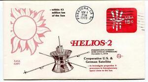 1978 Helios-2 Cooperative U.S. German Satellite Sun Pasadena NASA GSFC USA SAT