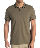 John Varvatos Star USA Men's Short Sleeve Dover Tipped Pique Polo Shirt Sage M