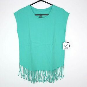 Volcom Acid Rip Sleeveless Top Size XS Jade Green