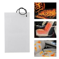 4pcs Universal Carbon Fiber Car Heated Seat Heater Pads Kit with Round Switch