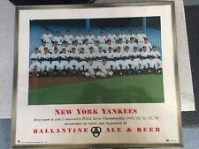 1954 New York Yankees Ballantine Beer Team Promotional Sign AMAZING CONDITION